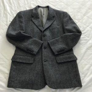 Vintage J. Crew Herringbone Tweed Sport Coat